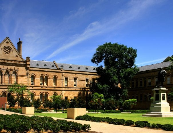 - the Old Classics Wing (Mitchell Building on North Terrace) of the University of Adelaide and the Goodman crescent