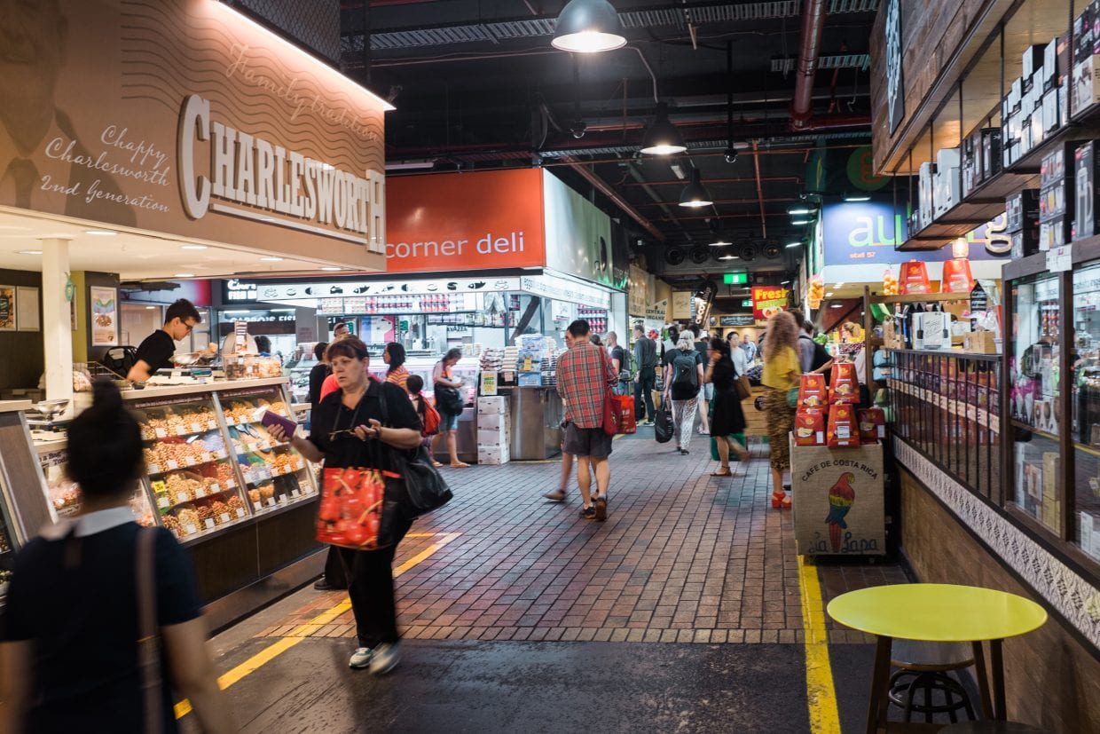 People perusing in the Adelaide Central Market