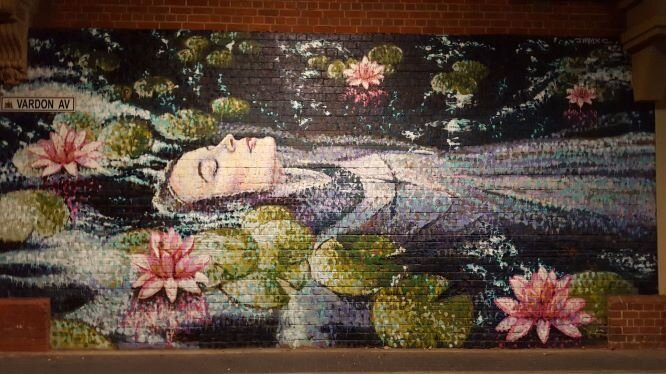 The Jimmy C artwork pictured features Ophelia from Shakespeare's Hamlet.